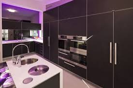 perspex in funky contemporary kitchen