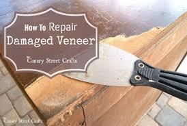 how to wood veneer furniture how to repair damaged veneer canary crafts
