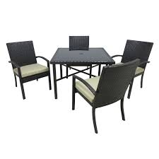 Outdoor Innovations Patio Furniture Outdoor Innovation Chelsea Aluminum 5 Piece Square Patio Dining