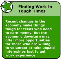 finding a summer job or internship