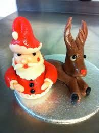 santa claus and rudolph are coming to town simple marzipan