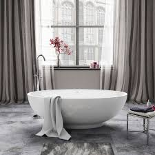 1690mm modern white designer bathroom oval freestanding bath