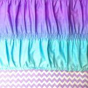 aqua ruffle comforter tween girl comforter aqua blue purple ruffle ruched ombre chevron