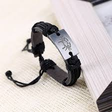 men jewelry bracelet images Zodiac men jewelry bracelet leather bracelets for women charm jpg
