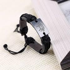 men jewelry bracelet images Zodiac men jewelry bracelet leather bracelets for women charm jpg