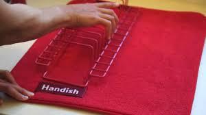 kitchen drying mat handish dish drying mat youtube