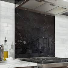 cuisine marbre noir acheter fond de hotte cuisine marbre noir verre de synthèse