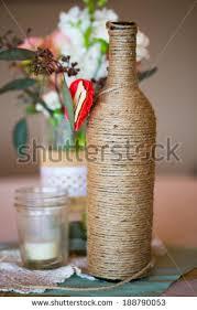 Wedding Reception Table Centerpieces Diy Wedding Decor Table Centerpieces Wine Stock Photo 188790059