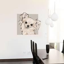 decoration dog wall decals home decor ideas chihuahua dog wall art galleries in dog wall decals