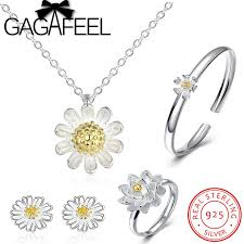sted necklace gagafeel 100 925 sterling silver jewelry set flower white