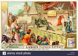 theatre mystery plays in the middle ages villagers perform in a