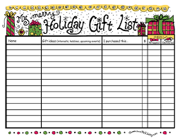 gift list gift list printable free printable available here flickr