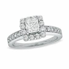 zales outlet engagement rings 5 8 ct t w princess cut frame engagement ring in 14k