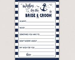 wedding wishes nautical nautical wishes etsy