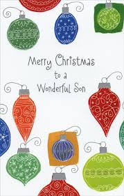 multi colored ornaments card by freedom greetings