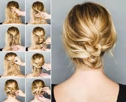 Einfache Hochsteckfrisurenen Zum Selber Machen Kurze Haare by Lockere Hochsteckfrisuren Für Mittellange Haare Frisuren