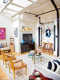 Loft Living Room by Chic Media Storage Ideas Hgtv