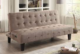 Joshua Creek Furniture by Taupe Sofa Bed W Power Outlet And Usb Coaster Furniture
