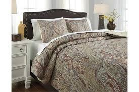 damonica 3 piece queen duvet cover set ashley furniture homestore