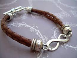 infinity braid bracelet images Braided leather bracelet infinity bracelet men women unisex jpg