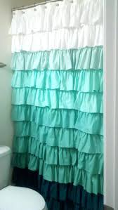 fun ruffled shower curtain teal shower curtain uk bathroom