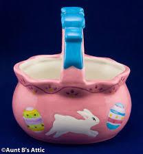 painted easter baskets ceramic easter basket ebay