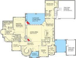 Stair Floor Plan European House Plan With Grand Stair Turret 100028shr