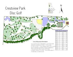 Map Topeka Ks Crestview Park Professional Disc Golf Association