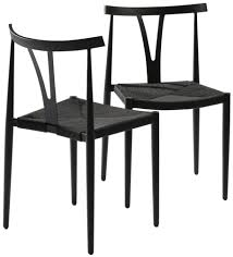 Metal Dining Chairs Alfa Black Metal Dining Chair Set Of 4 Dining Chair Set Black