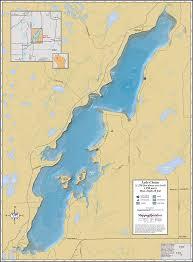 Wall Maps Lake Chetac Wall Map