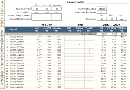 employee pto tracker excel template free free excel spreadsheets