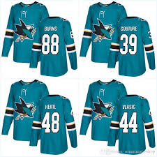 2018 2017 2018 new style san jose sharks jerseys 19 joe thornton