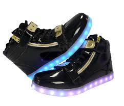 light up shoes gold high top galaxy led shoes light up usb charging high top plated lace strap