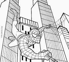 printable spiderman coloring pages kids cool2bkids drawing