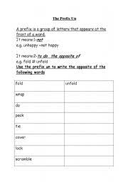 prefix un worksheet free worksheets library download and print