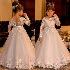 kids wedding dresses lace kids wedding dresses sleeve v backless tulle