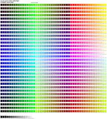 color codes 1536 color chart