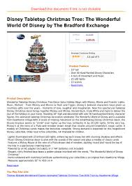 disney tabletop christmas tree the wonderful world of disney by the u2026