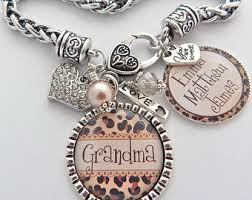 grandparent jewelry gifts bracelet etsy
