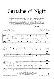 Curtains Music Curtains Of Night Ttbb By John Jacob Niles J W Pepper Sheet Music