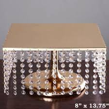 gold wedding cake stand 14 bejeweled gold square pendants metal chandelier
