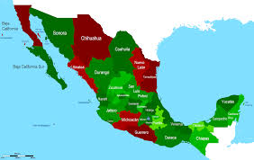 Mexican Map Mexico Maps For Map Of Mexican States Roundtripticket Me