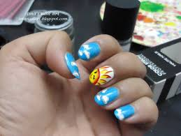 sun and clouds nail art youtube sunflower nail art tutorial