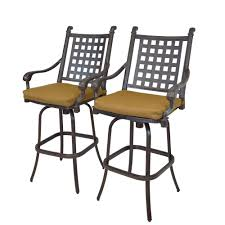 outdoor aluminum bar stools oakland living cast aluminum motion patio bar stool with sunbrella