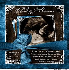 photo baby shower invitation ultrasound gender neutral style