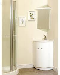 cream wall paint white corner real wood vanity with storage