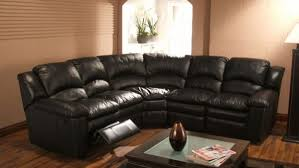 Black Leather Sectional Sofa Recliner Oregonbaseballcaign Sectional Sofas Darie Leather