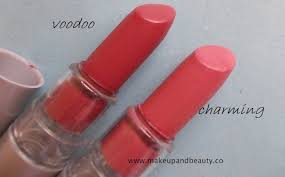 elf lipstick voodoo and charming review swatches