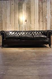 Leather Chesterfields Sofas Vintage Black Leather Chesterfield Sofa For Sale At Pamono