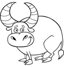 farm bull cartoon coloring book royalty free vector